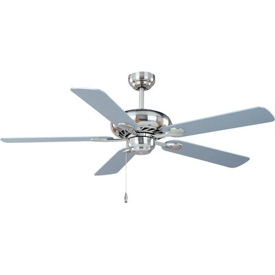 Super-Max 52 5 Blade Ceiling Fan Finish: Satin Nickel with Nickel Blades