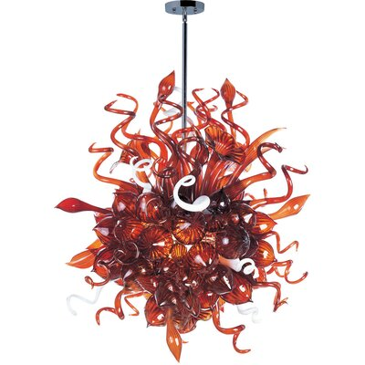 Mimi 18 Light Pendant Shade Color: Root Beer