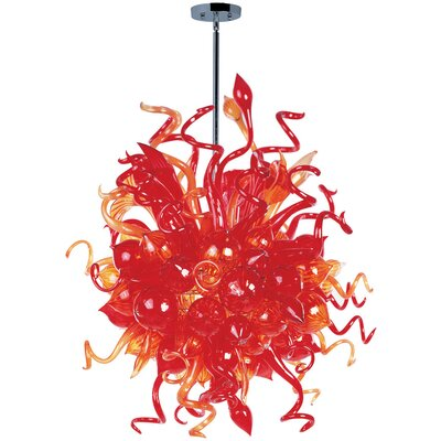 Mimi 18 Light Pendant Shade Color: Sunrise