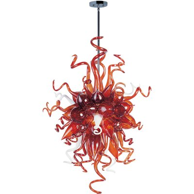 Taurus 6 Light Pendant Shade Color: Root Beer
