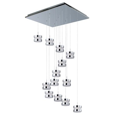 Disco 13 LED Integrated Bulb Cascade Pendant
