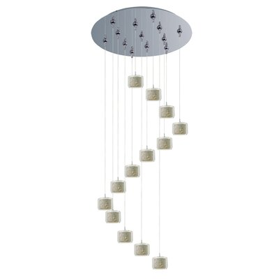 Confetti 13 Light Cascade Pendant Shade Color: White