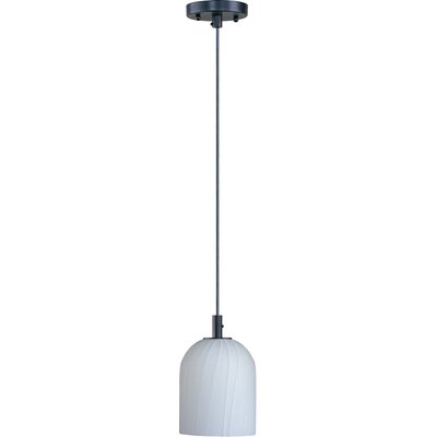 Carte 1 Light Mini Pendant Finish / Glass: Bronze / White