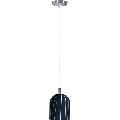Carte 1 Light Mini Pendant Finish / Glass: Satin Nickel / Black