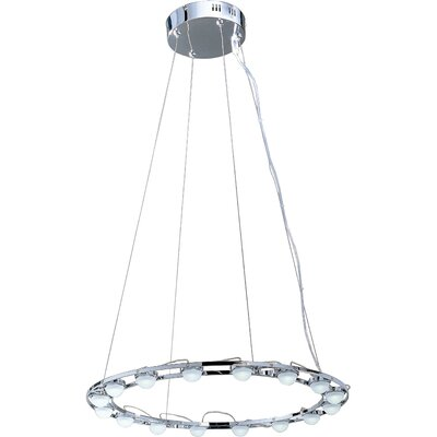 Jasper Sixteen Light Pendant in Polished Chrome