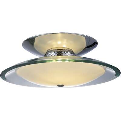 Curva 1-Light Flush Mount Size: 5.5 H x 16 W