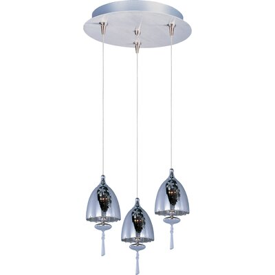 Minx 3 Light Pendant Glass Color: Mirror Chrome