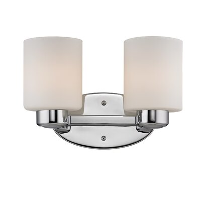 Brookings 2-Light Vanity Light Finish: Chrome