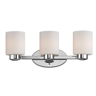Brookings 3-Light Vanity Light Finish: Chrome