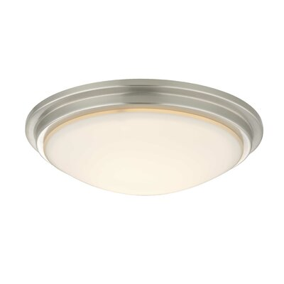 Recesso Semplice 11.25 Glass Ceiling Fan Bowl Shade Finish: Satin Nickel