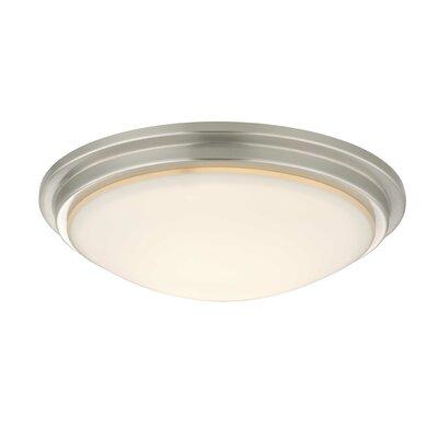 Recesso Semplice 11.25 Glass Ceiling Fan Bowl Shade Finish: Satin Nickel
