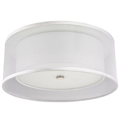 Recesso Double Organza 14.5 Linen Drum Recessed Light Shade