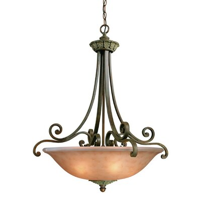 Windsor 5-Light Inverted Pendant Size: 33.5 x 28