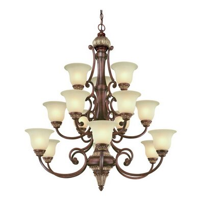 Bonita 15-Light Shaded Chandelier