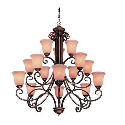 Medici 15-Light Shaded Chandelier