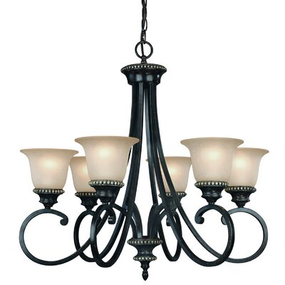 Hastings 6-Light Shaded Chandelier