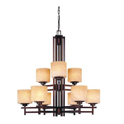 Roxbury 9-Light Shaded Chandelier