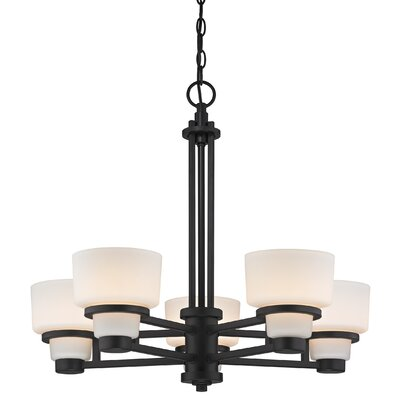 Saxon 5-Light Shaded Chandelier