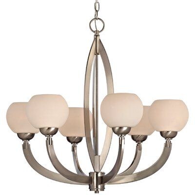 Odyssey 6-Light Shaded Chandelier