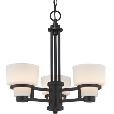 Saxon 3-Light Shaded Chandelier