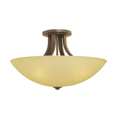 Fireside 3-Light Semi Flush Mount Finish: Bolivian
