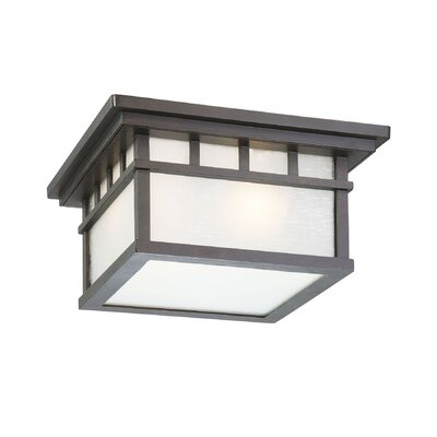 Teminot Rustic 2-Light Flush Mount Finish: Olde World Iron