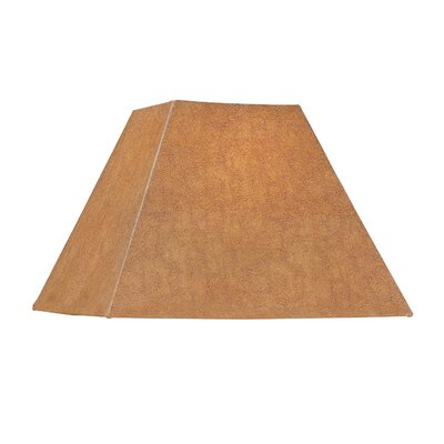 Square Soft Back Faux leather Empire Lamp shade (Set of 4) Shade Color: Brown