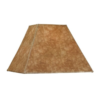Square Soft Back Faux leather Empire Lamp shade (Set of 4) Shade Color: Dark Brown
