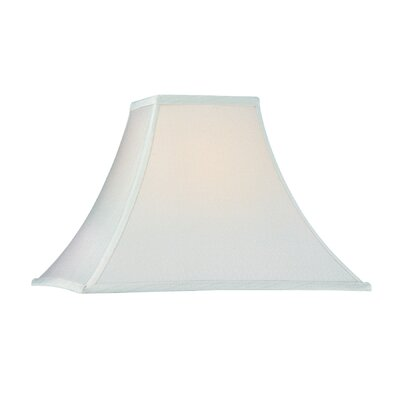 Square Flare Soft Back Polyester Bell Lamp Shade (Set of 4) Shade Color: Off- White