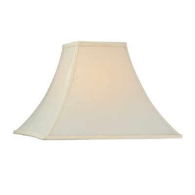 Square Flare Soft Back Polyester Bell Lamp Shade (Set of 4) Shade Color: Ecru