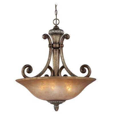 Carlyle 3-Light Inverted Pendant