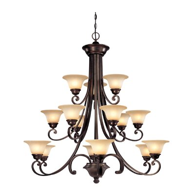 Brittany 15-Light Shaded Chandelier
