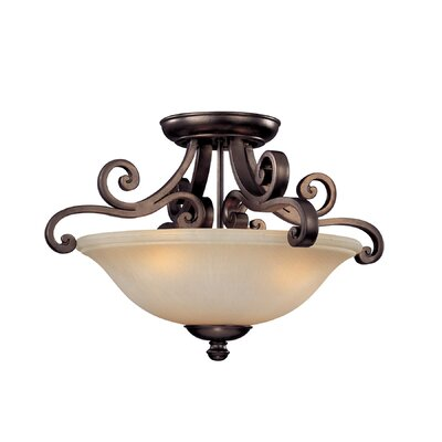 Whalen 3-Light Semi Flush Mount