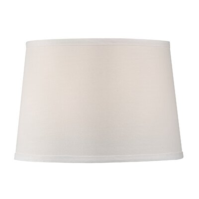 Modified Barrel Hard Back Polyester Drum Lamp Shade (Set of 4) Shade Color: White
