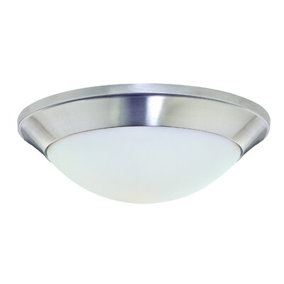 Rainier 1-Light Flush Mount Finish: Satin Nickel, Size: 4.75 H x 16 W