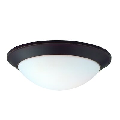 Rainier 1-Light Flush Mount Finish: Bolivian, Size: 3.75 H x 13.75 W