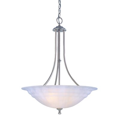 Bainsbury 3-Light Inverted Pendant Finish: Satin Nickel