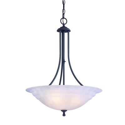 Bainsbury 3-Light Inverted Pendant Finish: Royal Bronze
