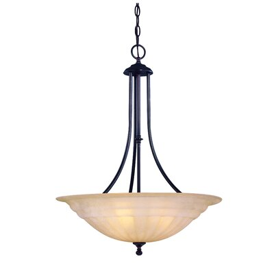 Richland 3-Light Inverted Pendant Finish: Bolivian