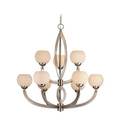 Odyssey 9-Light Shaded Chandelier