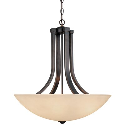 Fireside 4-Light Inverted Pendant Finish: Bolivian
