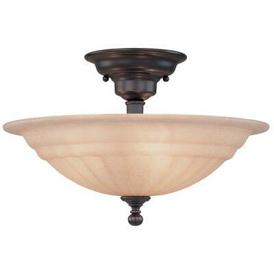 Bainsbury Semi Flush Mount Finish: Bolivian