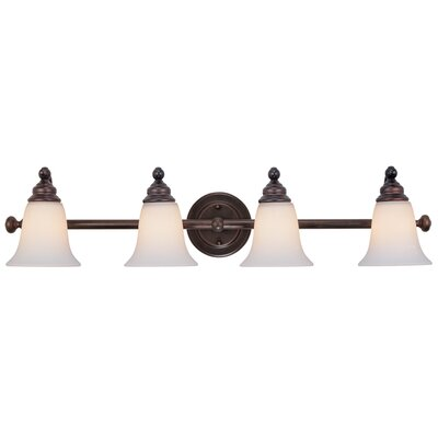 Hamilton 4-Light Vanity Light Finish: Royal Bronze