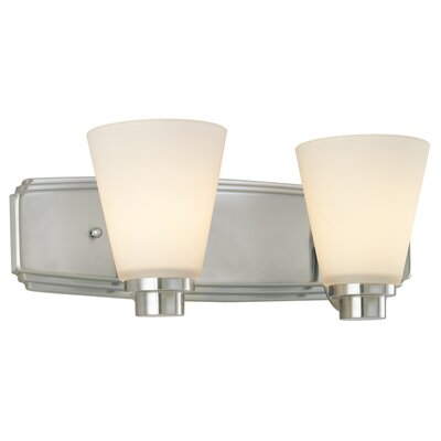 Southport 2-Light Vanity Light Finish: Satin Nickel