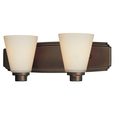 Southport 2-Light Vanity Light Finish: Heirloom Bronze