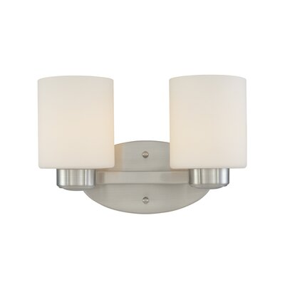 Brookings 2-Light Vanity Light Finish: Satin Nickel