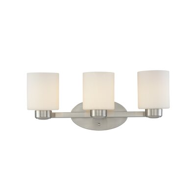 Brookings 3-Light Vanity Light Finish: Satin Nickel