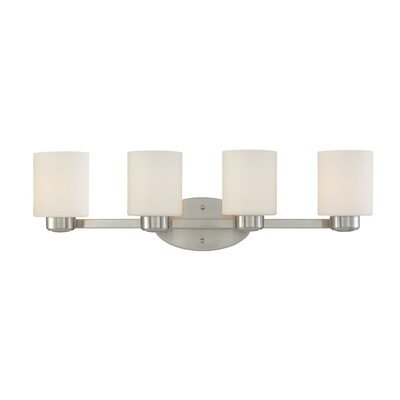 Brookings 4-Light Vanity Light Finish: Satin Nickel