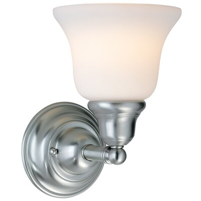 Brockport 1-Light Wall Sconce Finish: Satin Nickel