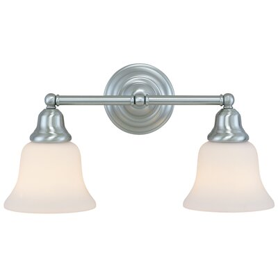 Brockport 2-Light Vanity Light Finish: Satin Nickel